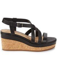 Lucky Brand Batikah Wedge Sandals - Black