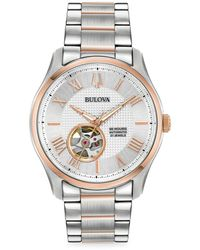 Bulova Wilton Automatic Two-tone Stainless Steel Bracelet Watch - Metallic