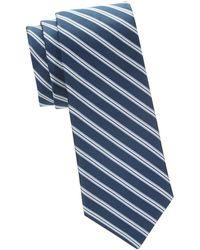 Saks Fifth Avenue - Striped Silk Tie - Lyst
