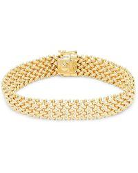 Saks Fifth Avenue Women's 14k Yellow Gold Woven Link Bracelet - Metallic