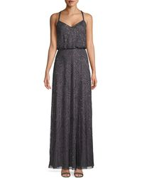 Adrianna Papell Embellished Blouson Gown - Multicolour