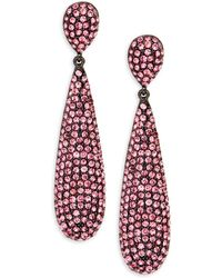 Jardin - Embellished Drop Earrings - Lyst