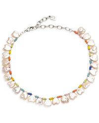 DANNIJO Lina Freshwater Pearl Beaded Necklace - Multicolor