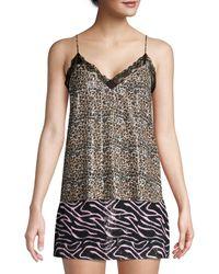 Olivia Rubin Flora Leopard Print Sequin Camisole - Multicolour