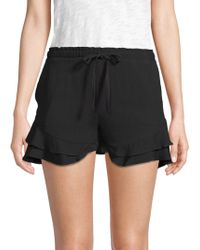 BB Dakota - Aldeen Ruffle-trimmed Shorts - Lyst