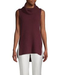 Saks Fifth Avenue - Ribbed Cowlneck Cashmere Top - Lyst