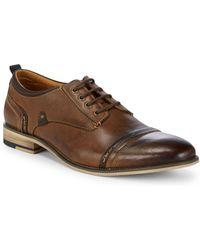 Steve Madden - Kobold Cap Toe Leather Derbys - Lyst