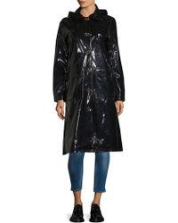 Jane Post - Long-sleeve Glossy Rain Coat - Lyst
