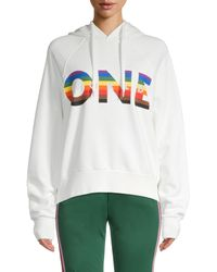 Rebecca Minkoff Cotton Graphic-print Hoodie - White