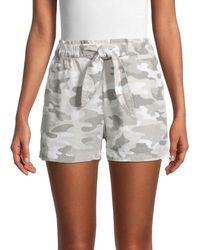 Philosophy Camo Drawstring Shorts - Grey