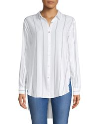 Philosophy | Striped Hi-lo Button-down Shirt | Lyst