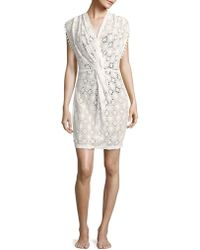6 Shore Road By Pooja Last Summer Sleeveless Lace Dress - White