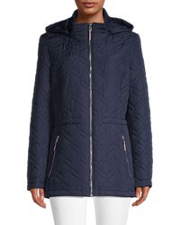 Tommy Hilfiger Diamond-quilted Hooded Jacket - Black