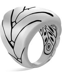 John Hardy Modern Chain Sterling Silver Large Ring - Metallic
