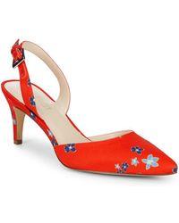 Nine West - Epiphany Floral Slingback Heels - Lyst