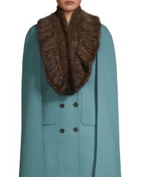 La Fiorentina - Mink Fur Knitted Scarf - Lyst