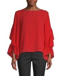 Saks Fifth Avenue - Ruffle Sleeve Blouse - Lyst
