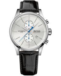 BOSS by Hugo Boss Chrono Leather Band Watch - Metallic