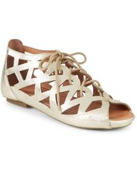 Gentle Souls - By Kenneth Cole Leather Sandals - Lyst