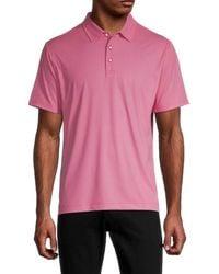 Robert Graham Men's Retutemann Tailored-fit Check Polo - Red - Size M