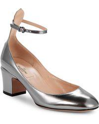 Valentino - Tango Metallic Leather Pumps - Lyst