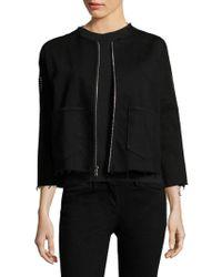 3x1 - Cole Studded Crop Jacket - Lyst