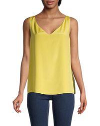 St. John Silk-blend Shell Blouse - Yellow