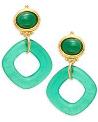 Kenneth Jay Lane 22k Goldplated Drop Earrings - Multicolour
