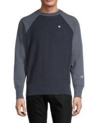 Champion Men's Reverse Weave Warm Up Sweatshirt - White - Size S
