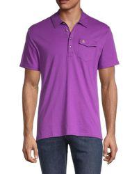 Original Penguin Short-sleeve Cotton Polo - Purple