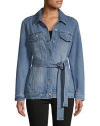 Bagatelle Faded Denim Jacket - Blue
