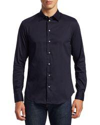 Giorgio Armani Solid Sport Shirt - Blue