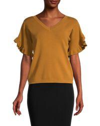 Chloé Ruffled-sleeves Top - Multicolor