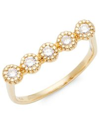 Saks Fifth Avenue - 14k Yellow Gold & Diamond Ring - Lyst