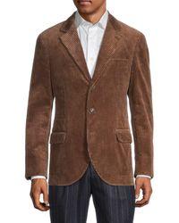 Brunello Cucinelli Men's Corduroy Sportcoat - Brown - Size 50 (40)