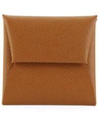 Hermès Vintage Bastia Epsom Leather Change Purse - Brown