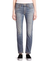 Vince - Faded Slim-fit Jeans - Lyst