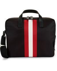 Bally Classic 3-stripe Briefcase - Black