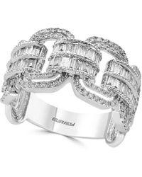 Effy Super Buy 14k White Gold And Baguette Diamond Link Ring - Multicolour