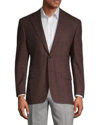 Canali Mini Check Wool Sportcoat