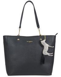 Karl Lagerfeld Zebra-charm Shopper Tote - Black