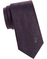 Versace Medallion Silk Tie - Purple