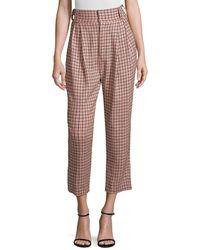 Maggie Marilyn Sheer Joy Check Pants - Pink