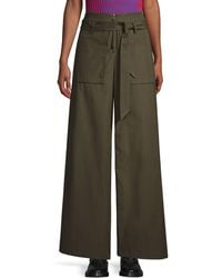 Opening Ceremony Belted Cotton Cargo Pants - Green