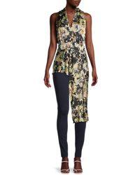 BCBGMAXAZRIA Women's Asymmetrical Peplum Top - Size Xs - Multicolour