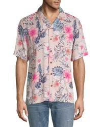 Standard Issue - Tropical-print Button-down Shirt - Lyst