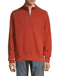 Tommy Bahama Half-zip Cotton Sweatshirt - Multicolour
