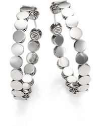 """John Hardy Dot Sterling Silver Hoop Earrings/1.5"""" - Metallic"""
