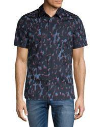 Perry Ellis - Camo Button-down Shirt - Lyst