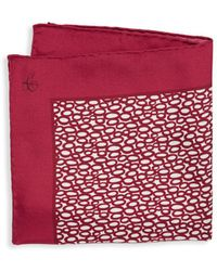 Canali - Open Dot-print Silk Pocket Square - Lyst